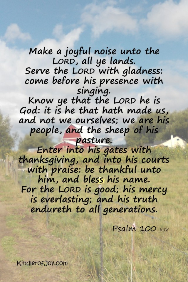 psalm 100 with kindler